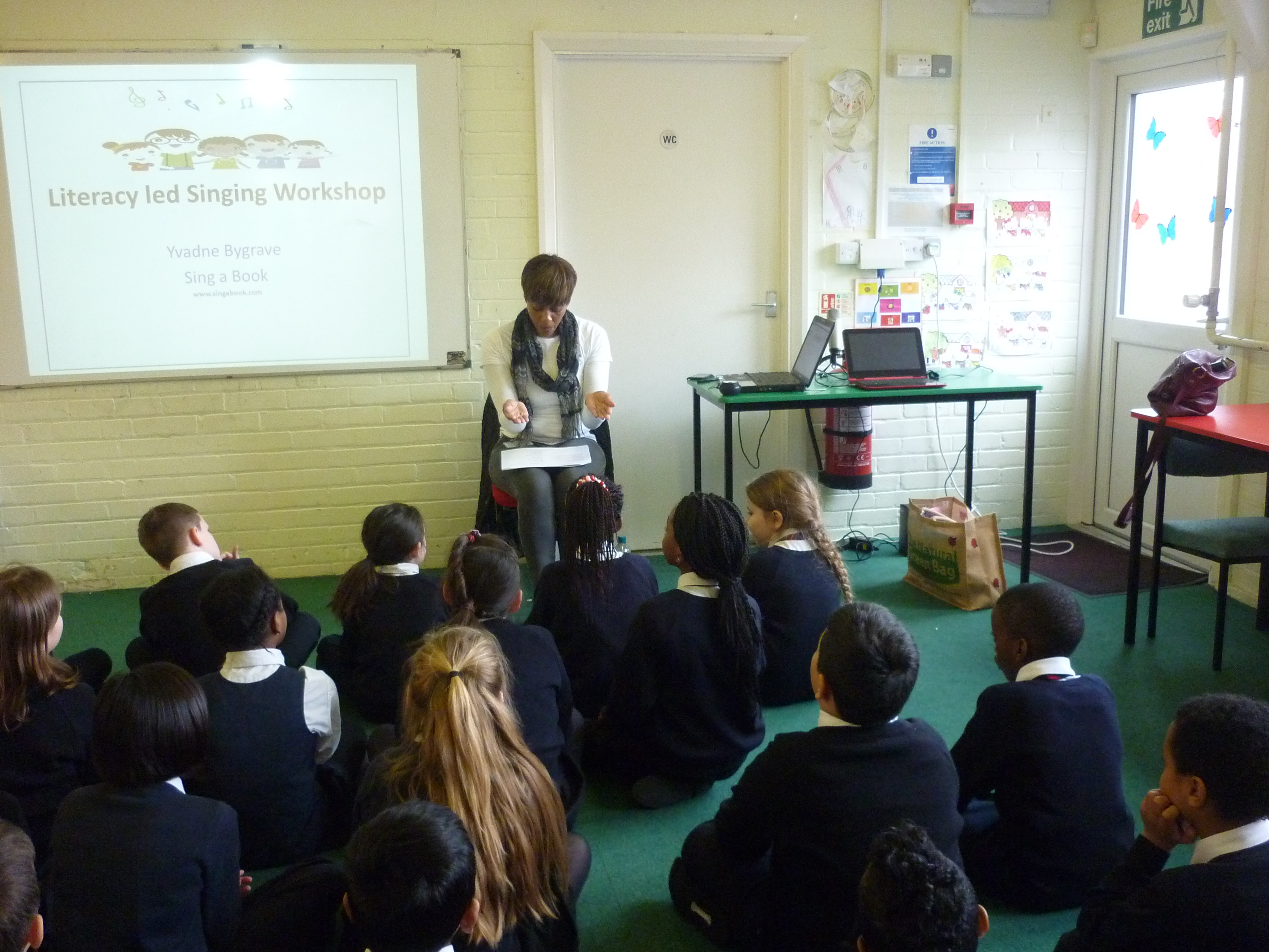 Teaching year 3 the song about Benjamin Zephaniah their class author.