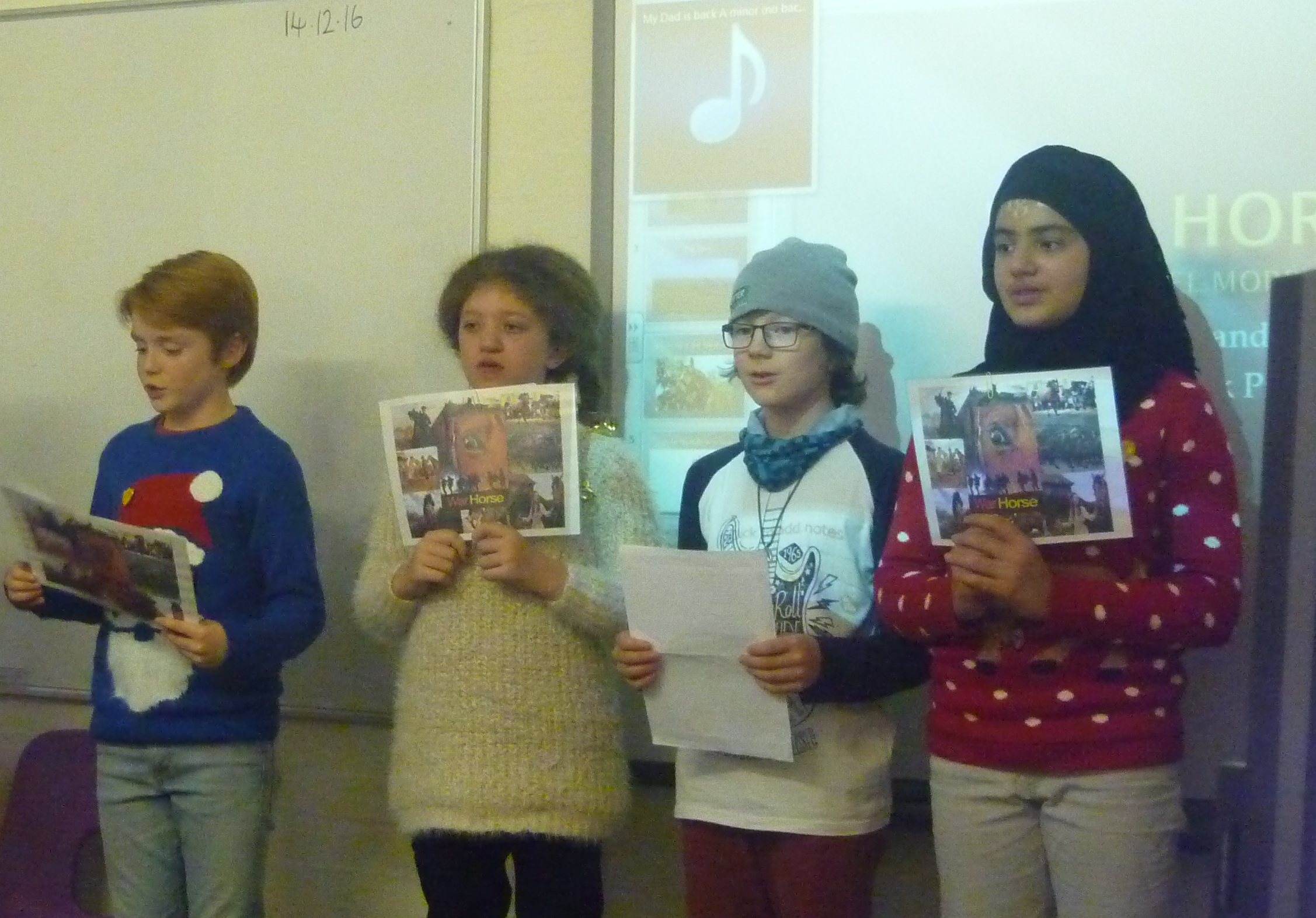 After School Book Club performing the song War Horse.